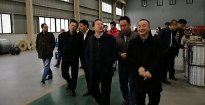 成都市郫都区区委书记杨东升等领导一行莅临金顶电缆调研指导工作