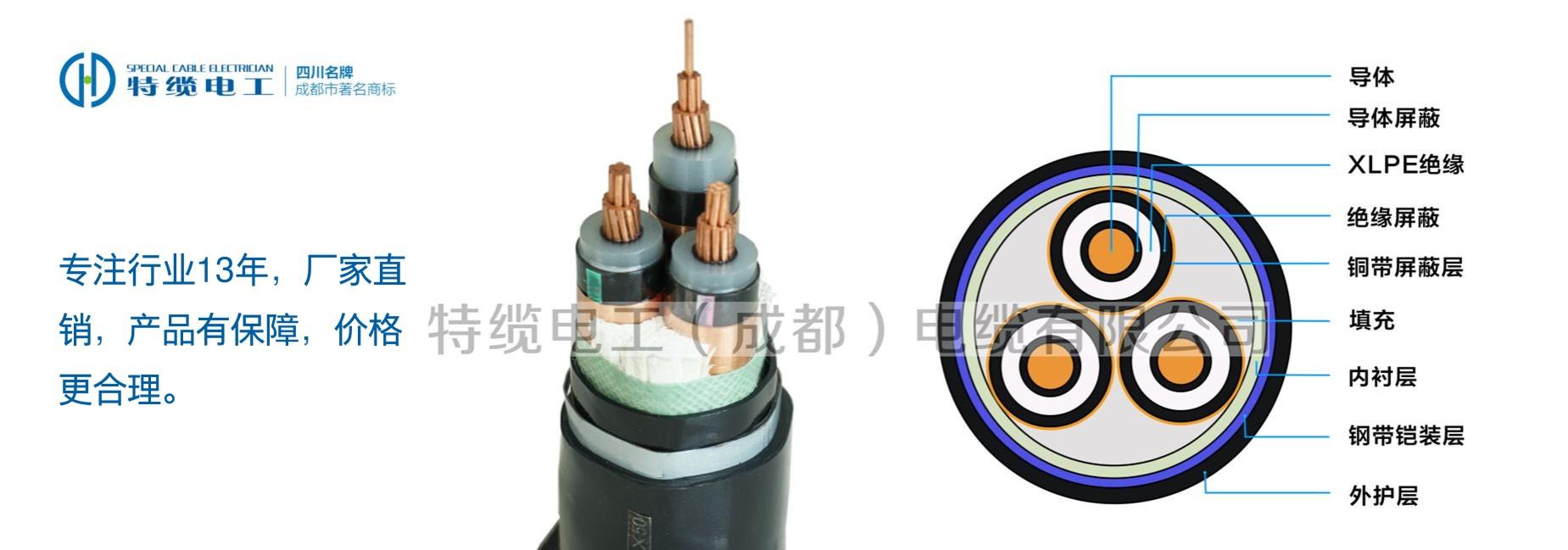 高压电缆 YJV22